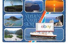M/S NARVIK FERRY SELSKAP COMPANY VERDENS VAKRESTE SJOREISE NORWAY POSTCARD