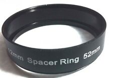 52mm Spacer Metal Adapter Ring For Lens FilterTube Hood Add Space 52 mm L=12mm