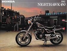 '82 Honda CB450 CB450SC Nighthawk 4 Page Sales Brochure