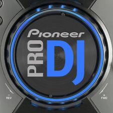 PIONEER cdj400 PRO DJ (BLU) JOG SLIPMAT grafica / Serato Traktor CDJ 400