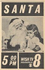 1964 CHRISTMAS TV AD~SANTA CLAUS on WISH TV in INDIANAPOLIS,INDIANA~HOLIDAY