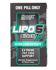 Nutrex LIPO 6 BLACK HERS ULTRA CONCENTRATE 60 cpas UC Fat Burner Weight Loss