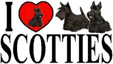 I LOVE SCOTTIES Car Sticker By Starprint - Featuring the Scottish Terrier