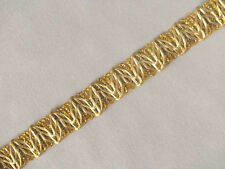 10 Yards. Metallic Trim.  Gold.  Braid, Lace, Ribbon
