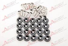 20 PC BLACK BILLET ALUMINUM FENDER/BUMPER WASHER/BOLT ENGINE BAY DRESS UP KIT