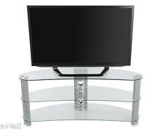 "AVF Silver Curved TV Stand for TV's up to 60"" FS1200CURBB"
