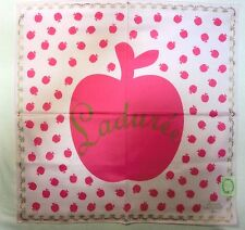 "Laduree Paris Apple pink handkerchief cotton 100% 50x50cm(19.69"")Japan made"