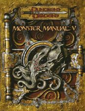 ⚝ MONSTER MANUAL 5 V ⚝ D&D 3.5 INGLESE Dungeons & Dragons MANUALE DEI MOSTRI 3.0