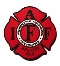 "IAFF Firefighter / Paramedic UNION 3.5"" PVC/RUBBER Hook/loop PATCH"