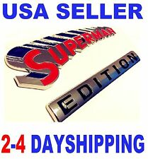 SUPERMAN EDITION EMBLEM 3D Car Truck HYUNDAI KIA Ornament GEO Badge DECAL SIGN