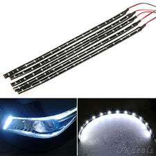 1pcs 15 SMD 12V LED 30cm Car Auto Flexible Grill Light Lamp Strip Waterproof
