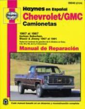 Chevrolet and GMC Camionetas 1967 al 1987, Manual De Reparacion