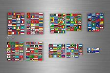 Set 252x sticker flag scrapbooking country collection stamp coins small world r4