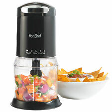 VonShef Multi Function Mini Kitchen Food Processor / Blender / Chopper in Black