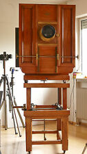 BENTZIN 1896 wooden camera Holz-Kamera wood 60x60 Vitax Portrait 3,8 brass lens