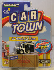 GREENLIGHT COLLECTIBLES CAR TOWN SERIES ISSUE #2 BLACK & WHITE S.W.A.T. VAN