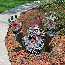 Escaping the Grave Macabre Living Dead Gruesome Gnome Zombie Halloween Prop