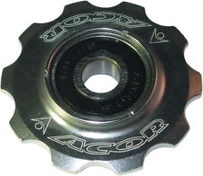 Acor 10T CNC Alloy Jockey Wheel: Silver