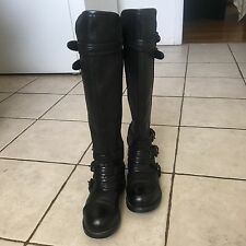 UGG Collection BETA Tall Black Bikers Boots size 6 US