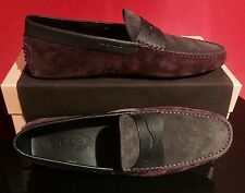 Brand New Men's Tod's Driving Shoes / Black/Bordeaux / UK 9.5 / US 10.5 / $425