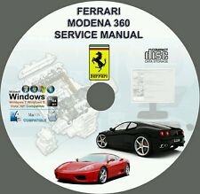 FERRARI 360 MODENA OWNERS REPAIR MANUAL ON CD