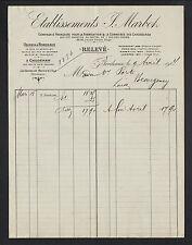 """BORDEAUX (33) USINE de CHAUSSURES """"J. MARBOT"""" en 1904"""