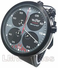 Parnis 48mm Military Style Black Japanese Quartz Chronograph New UK