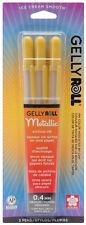 Sakura Gelly Roll Metallic Gold 3pk Archival Quality Gel Ink 0.4mm Pen