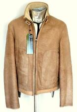 Hugo Boss Jendris Shearling Sheepskin Beige Leather Jacket EU48 Medium RRP £1200