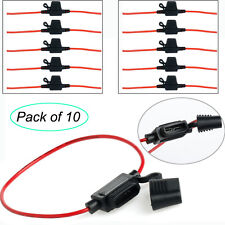 10 Pack 12 Gauge ATC Fuse Holder In-line AWG Wire For Car Boat Truck Auto 125V