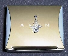 AVON Sterling Silver with Simulated Diamond Angel Charm NEW