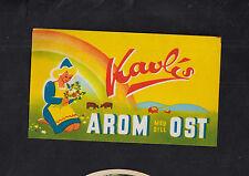 Ancienne  étiquette Fromage  Norvège  BN10305 Kavlis Femme