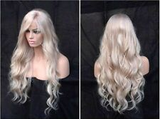 "22"" 7A 100% Brazilian 180% Density #60 Blonde Natural Wave Full Lace Wig"