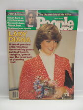 People Weekly Magazine June 22 1981 Princess Diana of Wales & John Lennon Cover