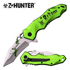 Z-Hunter Zombie Green Skull Spring Action Assisted Assist Knife Knives #110GN