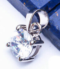 """FREE SHIP! 1.00CT Round Russian CZ .925 Sterling Silver Pendant .5"""""""