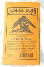 Kyoto Moss Spores for Bonsai Pots, Japanese Gardens, Terraiums and Paths