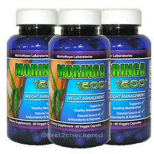 X3 Moringa Oleifera Capsule 1200mg 100% Natural Energy Super Food Anti Age