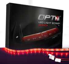 "OPT7® Advanced Glow 12"" LED Strip w/Adapters - Red Custom Interior Lighting"