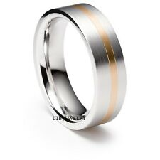 10K TWO TONE GOLD WEDDING BAND RING  MENS 6MM