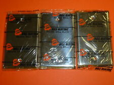 NOS! (3) BELL ELECTRIC 1-GANG CHROME FINISH BLANK WALL PLATE