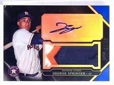 2016 Topps Triple Threads Sapphire George Springer auto 3clr patch #D07/10 *5739