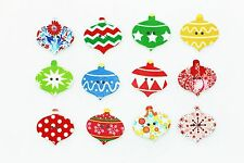 Christmas Ornament Wooden Sewing Button 26mm 50pcs