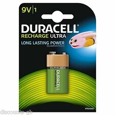 Duracell rechargeable ultra 9V PP3 HR22 170mAh Block Battery - Pack of 1