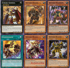 Yugioh Dododo Deck - 40 Cards + 4 Extra - Warrior, Zubaba General, Sword Breaker