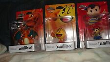 Nintendo Video Game Figures, Ness, Charizard and Pac-Man