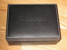 MERCEDES-BENZ Championship Calloway Golf Ball Box Black Leather Jewelry Trinkets