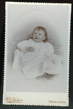 Cabinet Photo - Greeley, Colorado -Young Smiling Baby in Long Gown, Baker Studio