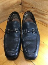 "Aston Grey Collection Black Leather ""Navarro"" Horsebit Driving Mocs Mens 8 73093"