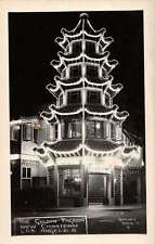 Los Angeles California Golden Pagoda in New Chinatown real photo pc Z17049
